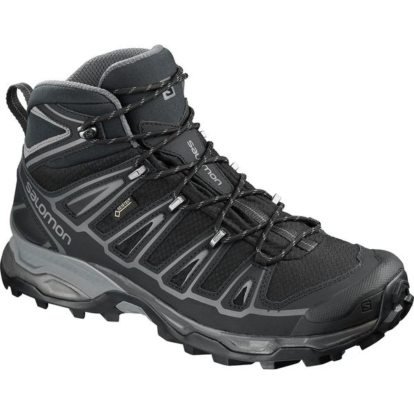 サロモン メンズ ブーツ&レインブーツ シューズ X Ultra Mid 2 Spikes GTX Winter Boot - Men's Black/Black/Quiet Shade