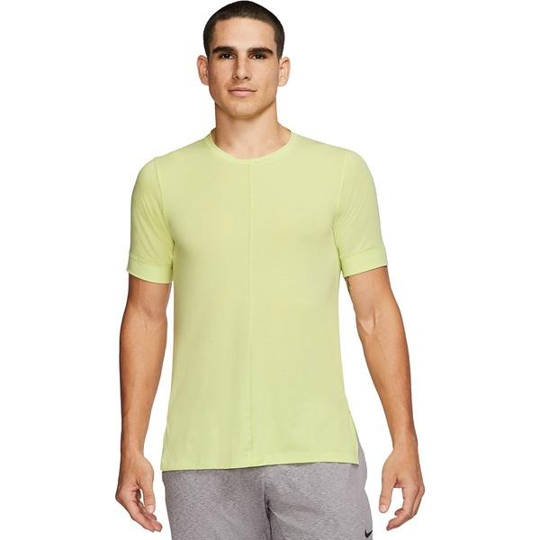 ナイキ メンズ シャツ トップス Dry Yoga Short-Sleeve Top - Men's Limelight/Black