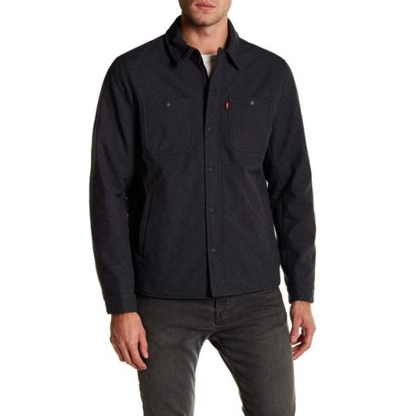 リーバイス メンズ ジャケット&ブルゾン アウター Soft Shell Wind Shirt Jacket HTR NVY CO