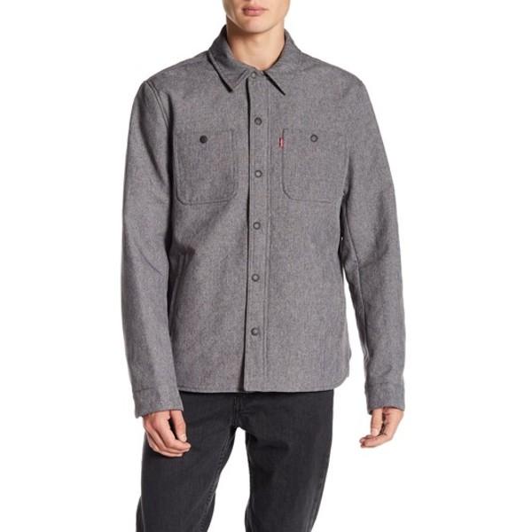 リーバイス メンズ ジャケット&ブルゾン アウター Soft Shell Wind Shirt Jacket HTHR GREY