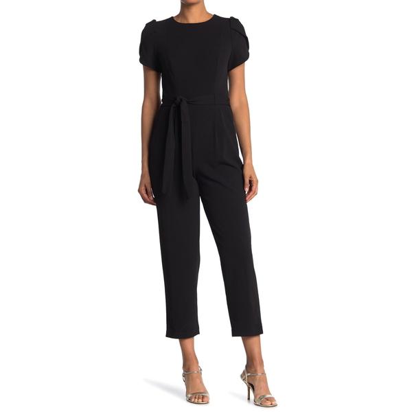 5☆好評 カルバンクライン レディース トップス ワンピース BLACK 本店 Straight Leg Tulip Jumpsuit 全商品無料サイズ交換