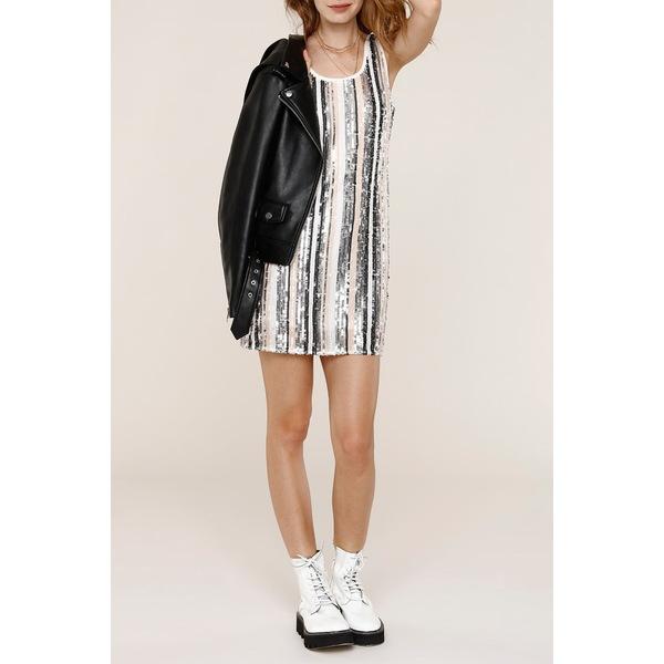 ハートルーム レディース トップス ワンピース PLATINUM 全商品無料サイズ交換 結婚祝い Dress Sequined Mini Seren Slip 気質アップ