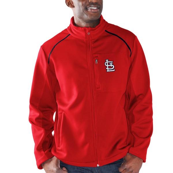 カールバンクス メンズ ジャケット&ブルゾン アウター St. Louis Cardinals GIII Sports by Carl Banks Rebound FullZip Fleece Jacket Red