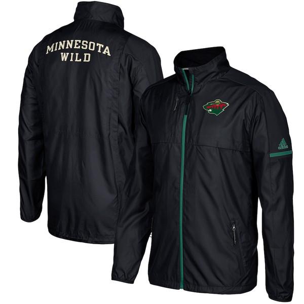 アディダス メンズ ジャケット&ブルゾン アウター Minnesota Wild adidas Authentic Rink Full-Zip Jacket Black