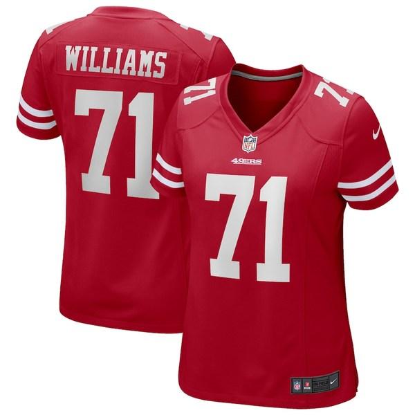 ナイキ レディース シャツ トップス Trent Williams San Francisco 49ers Nike Women's Player Game Jersey Scarlet