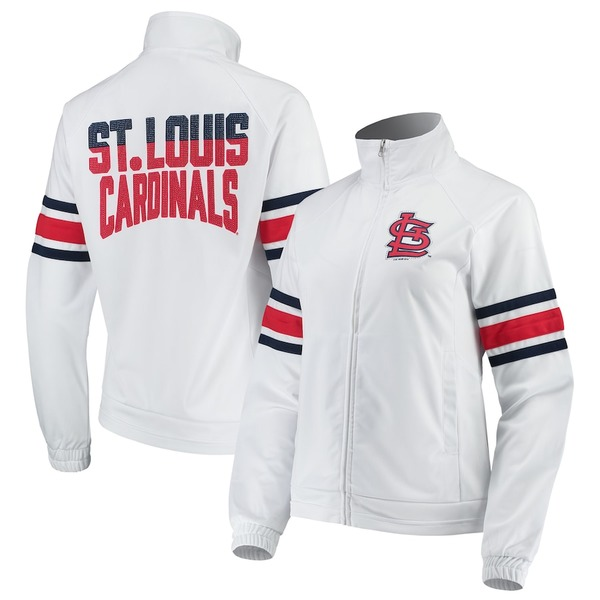 カールバンクス レディース ジャケット&ブルゾン アウター St. Louis Cardinals G-III 4Her by Carl Banks Women's Game Score Full-Zip Track Jacket White
