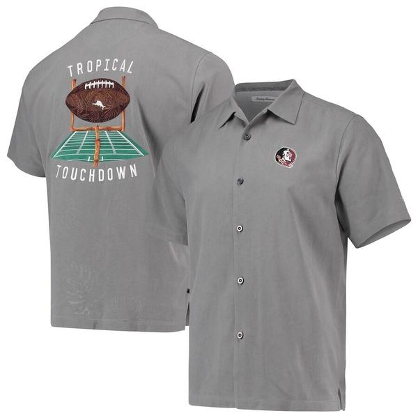 トッミーバハマ メンズ シャツ トップス Florida State Seminoles Tommy Bahama Tropical Touchdown Camp Button-Up Shirt Gray