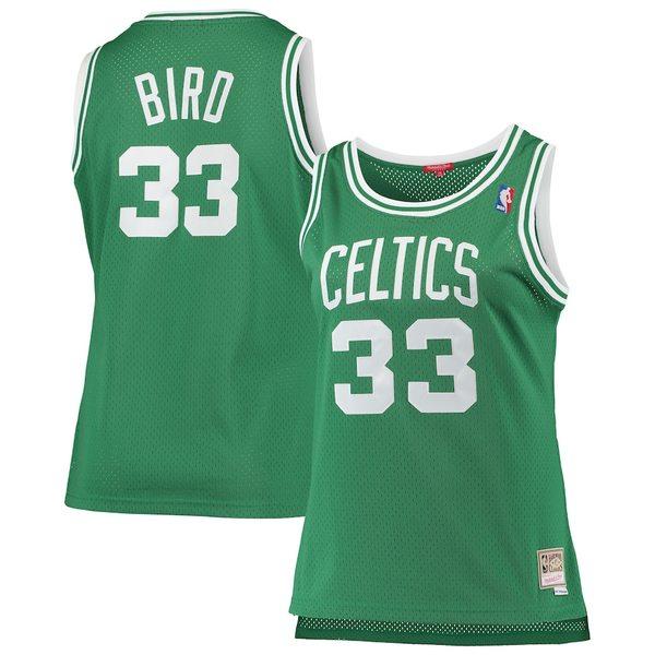 ミッチェル&ネス レディース シャツ トップス Larry Bird Boston Celtics Mitchell & Ness Women's Plus Size Swingman Jersey Kelly Green