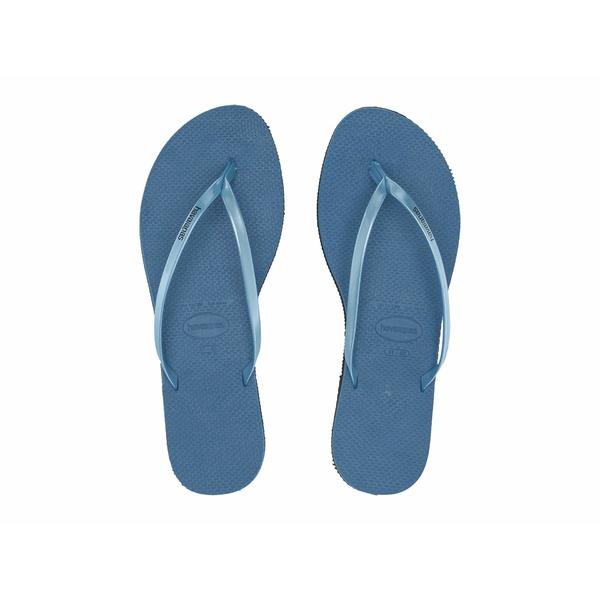 ハワイアナス レディース サンダル シューズ You Metallic Flip Flops Steel Blue
