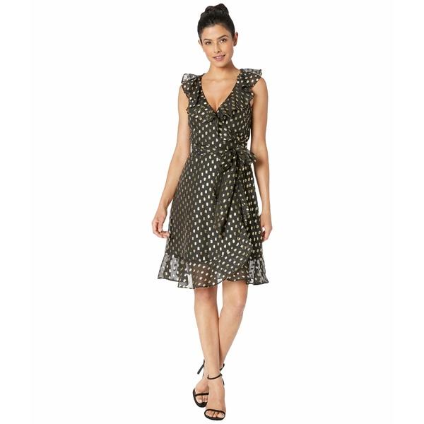 ドナモーガン レディース ワンピース トップス Metallic Dot Dress w/ Blouson Sleeve Black/Gold Multi