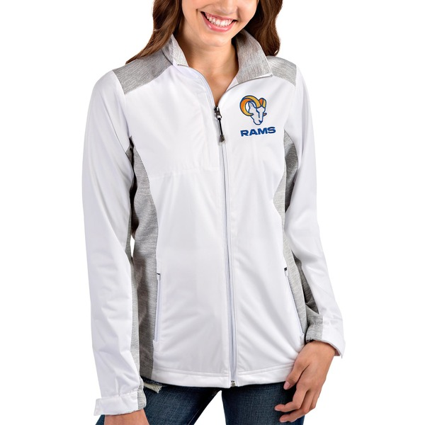 アンティグア レディース ジャケット&ブルゾン アウター Los Angeles Rams Antigua Women's Revolve FullZip Jacket Royal/Heather Royal