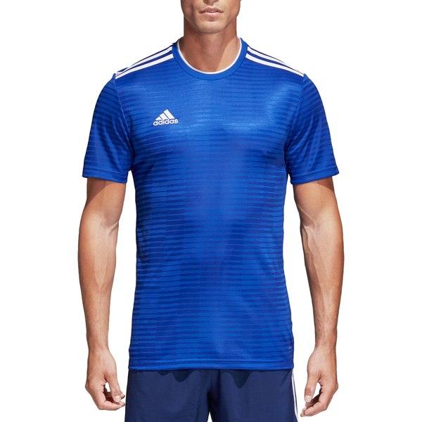 アディダス メンズ パーカー・スウェットシャツ アウター adidas Men's Condivo 18 Soccer Jersey BoldBlue/White
