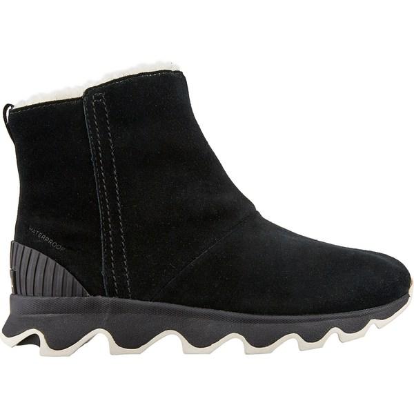ソレル レディース ブーツ&レインブーツ シューズ SOREL Women's Kinetic Short 100g Waterproof Winter Boots Black/SeaSalt