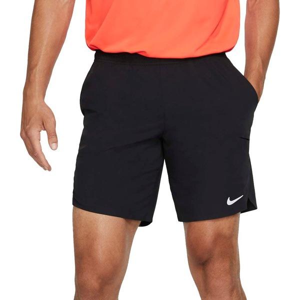 ナイキ メンズ カジュアルパンツ ボトムス Nike Men's NikeCourt Flex Ace 9'' Tennis Shorts Black