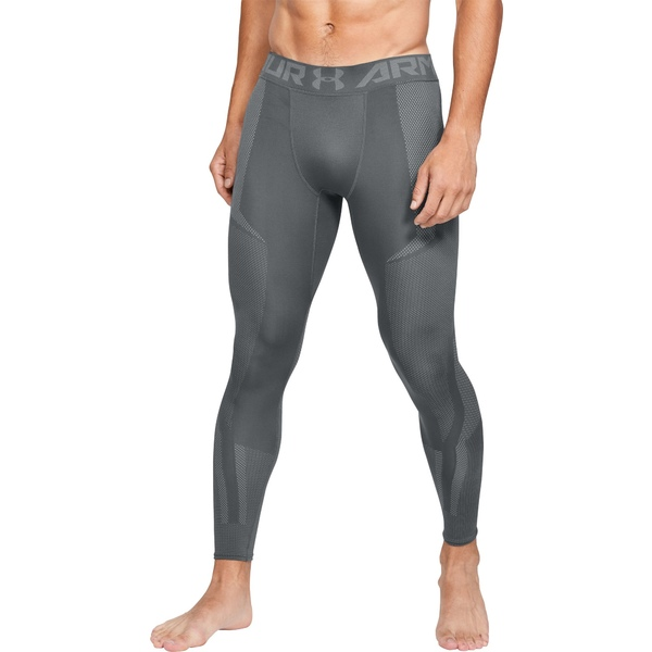 アンダーアーマー メンズ カジュアルパンツ ボトムス Under Armour Men's Project Rock Seamless Leggings (Regular and Big & Tall) PitchGray/Steel