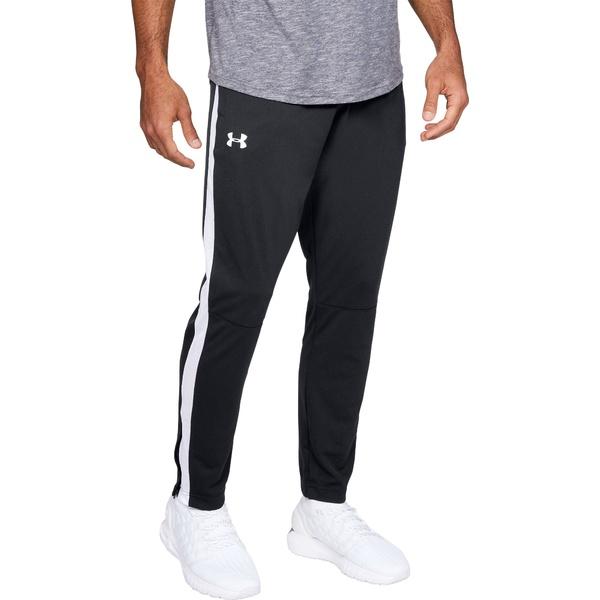 アンダーアーマー メンズ カジュアルパンツ ボトムス Under Armour Men's Sportstyle Pique Pants (Regular and Big & Tall) Black/White