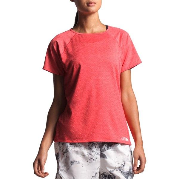 ノースフェイス レディース シャツ トップス The North Face Women's Active Trail Jacquard T-Shirt CayenneRedHeather