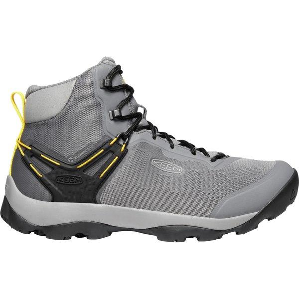 キーン メンズ ブーツ&レインブーツ シューズ KEEN Men's Venture Vent Mid Hiking Boots SteelGrey/Yellow