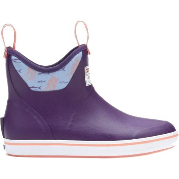 エクストラタフ レディース ブーツ&レインブーツ シューズ XTRATUF Women's Salmon Sisters 6'' Ankle Waterproof Deck Boots Purple