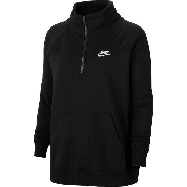 ナイキ レディース シャツ トップス Nike Women's Plus Size Sportswear Essential 1/4-Zip Fleece Top Black
