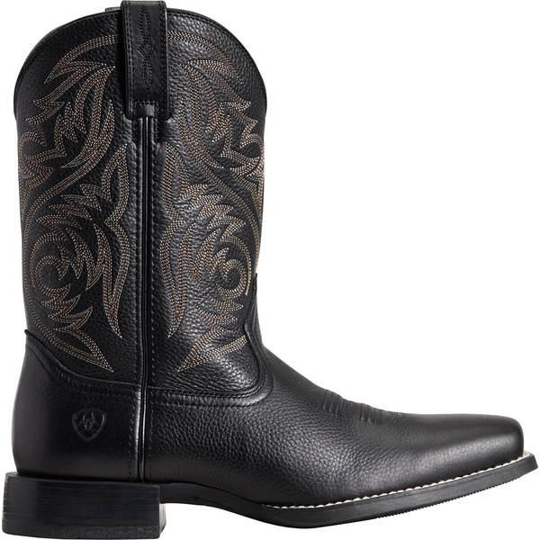 アリアト メンズ ブーツ&レインブーツ シューズ Ariat Men's Sport Herdsman Western Boots Black