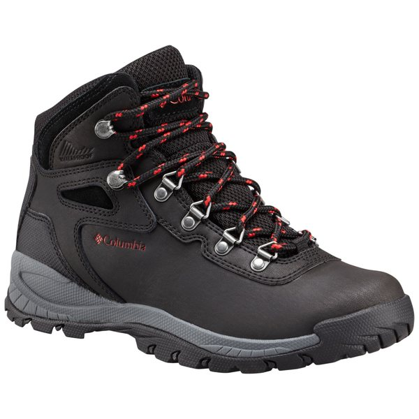 コロンビア レディース ブーツ&レインブーツ シューズ Columbia Women's Newton Ridge Plus Mid Waterproof Hiking Boots Black/PoppyRed