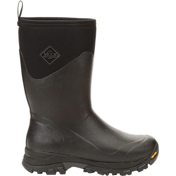 ムックブーツ メンズ ブーツ&レインブーツ シューズ Muck Boots Men's Arctic Ice Mid Insulated Waterproof Winter Boots Black/Shadow