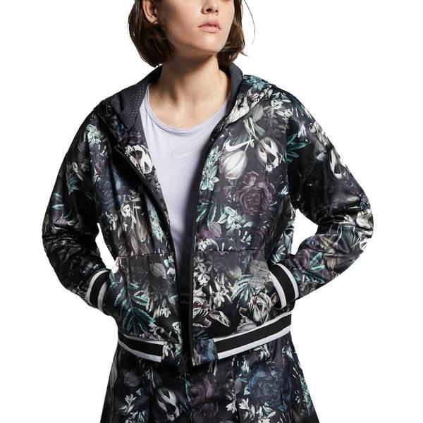 ナイキ レディース ジャケット&ブルゾン アウター Nike Women's Dri-FIT Tennis Floral Printed Jacket Black