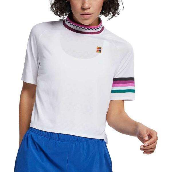 ナイキ レディース シャツ トップス Nike Women's NikeCourt Dri-FIT Breathe Slam Tennis Shirt White