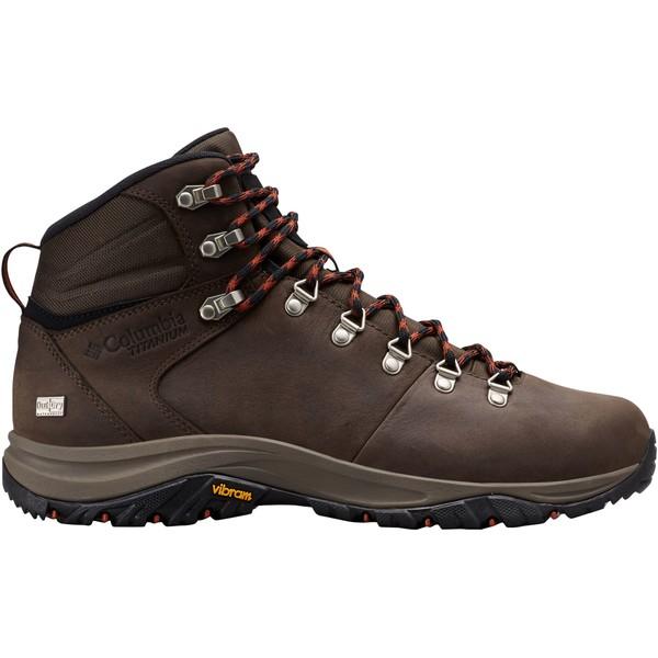 コロンビア メンズ ブーツ&レインブーツ シューズ Columbia Men's 100MW Titanium OutDRY Waterproof Hiking Boots Cordovan/DarkAdobe