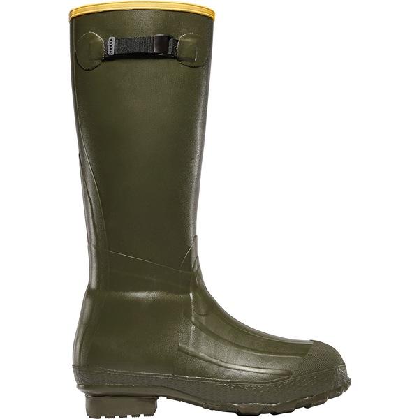 ラクロス メンズ ブーツ&レインブーツ シューズ LaCrosse Men's Burly Classic Rubber Hunting Boots Green