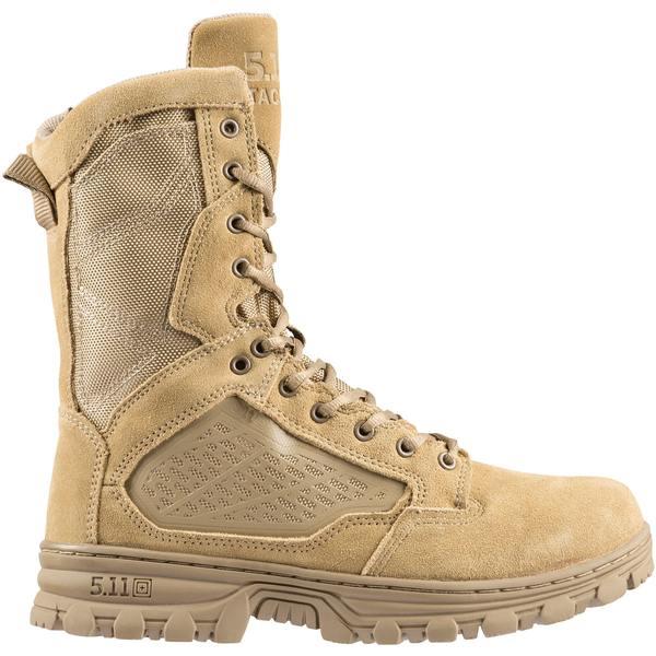 5.11タクティカル メンズ ブーツ&レインブーツ シューズ 5.11 Tactical Men's EVO 8'' Desert Side Zip Tactical Boots Coyote