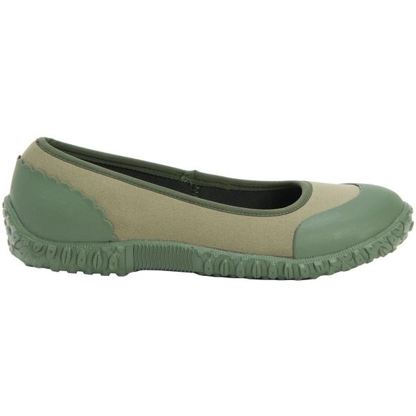 ムックブーツ レディース スニーカー シューズ Muck Boots Women's Muckster II Flats Green/VeggiePrint
