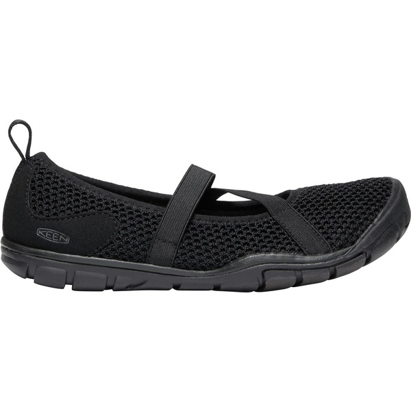 キーン レディース スニーカー シューズ KEEN Women's Hush Knit CNX Mary Janes Black/Raven