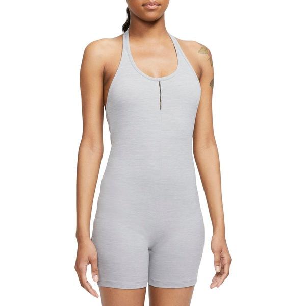 ナイキ レディース シャツ トップス Nike Women's Luxe Halter Jumpsuit ParticleGrey