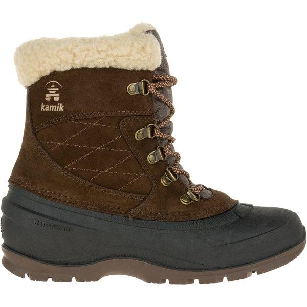 カミック レディース ブーツ&レインブーツ シューズ Kamik Women's SnovalleyL 200g Waterproof Winter Boots Brown