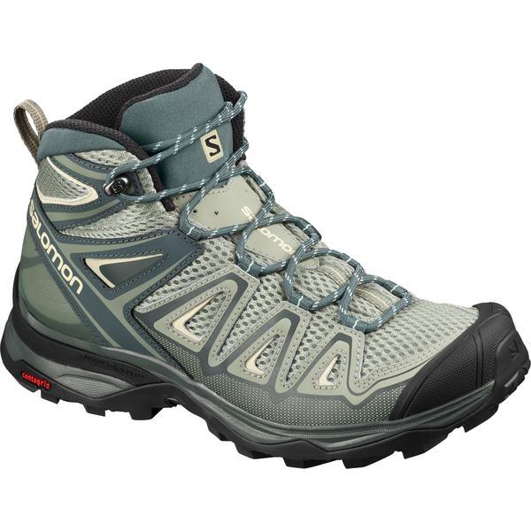 サロモン レディース ブーツ&レインブーツ シューズ Salomon Women's X Ultra Mid 3 Aero Hiking Boots Shadow