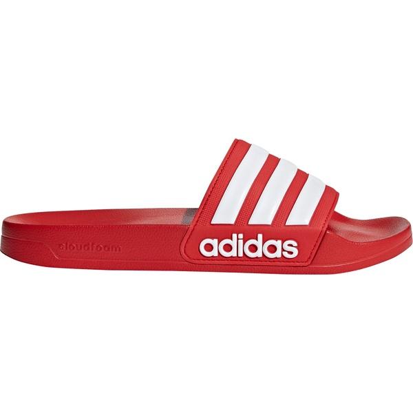 アディダス メンズ サンダル シューズ adidas Men's Adilette Shower Slides Red/White