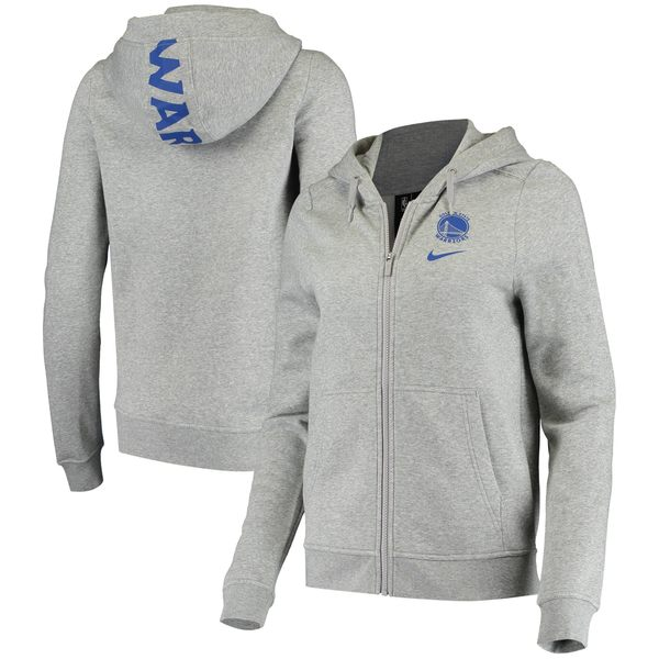 ナイキ レディース ジャケット&ブルゾン アウター Golden State Warriors Nike Women's Club Fleece FullZip Jacket Gray