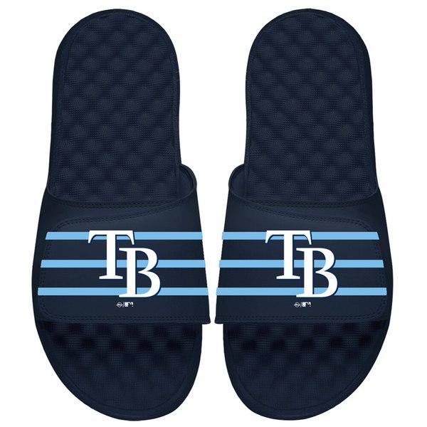 アイスライド メンズ サンダル シューズ Tampa Bay Rays ISlide MLB Stripe Slide Sandals Navy