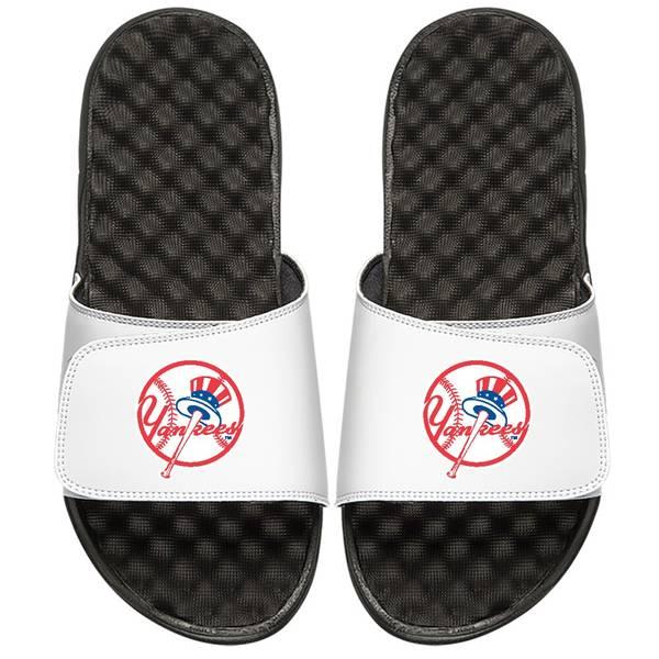 アイスライド メンズ サンダル シューズ New York Yankees ISlide Primary Logo Slide Sandals White