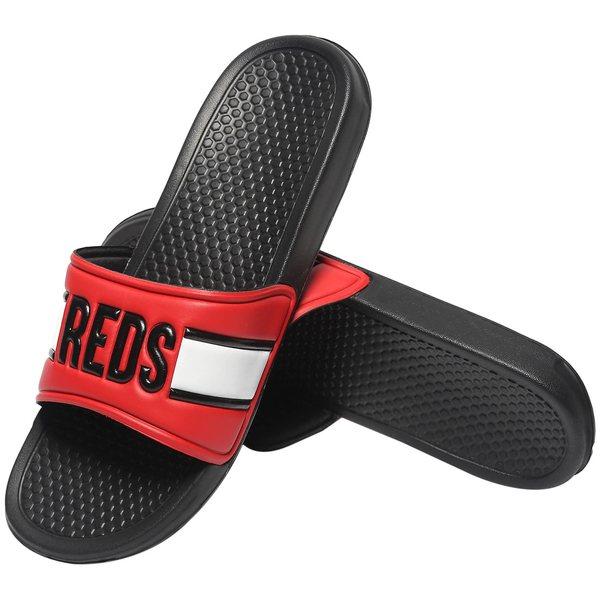 フォコ メンズ サンダル シューズ Cincinnati Reds Raised Slide Sandals Red