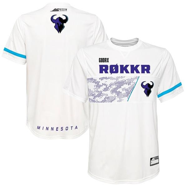 アウタースタッフ メンズ ユニフォーム トップス GodRx Minnesota Rokkr Home Jersey White