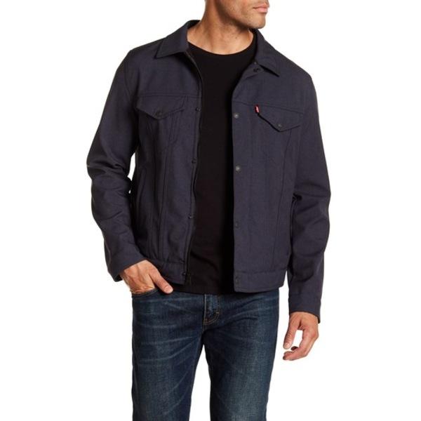 リーバイス メンズ ジャケット&ブルゾン アウター Classic Trucker Jacket HTR NVY CO