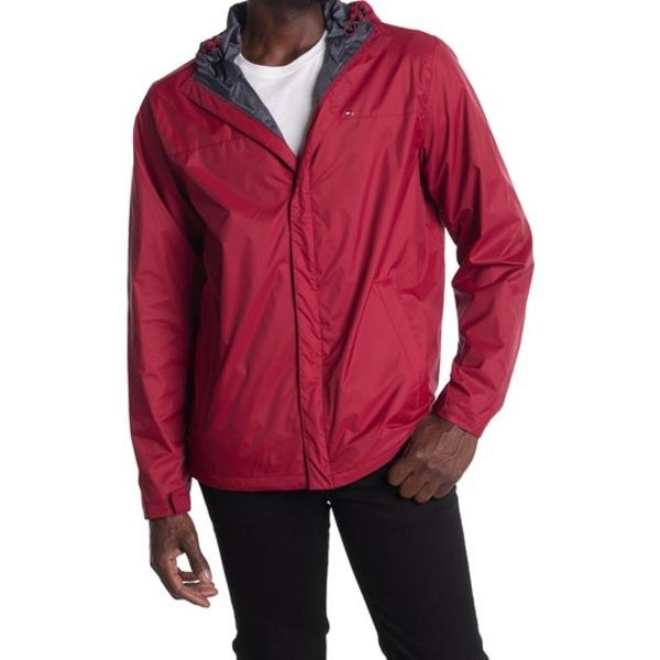 トミー ヒルフィガー メンズ ジャケット&ブルゾン アウター Tommy Rain Slicker Jacket RED