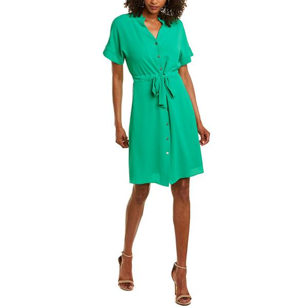 【驚きの値段で】 マギーロンドン レディース ワンピース トップス Maggy London Shirtdress basil green, 三沢市 9f0af6ba