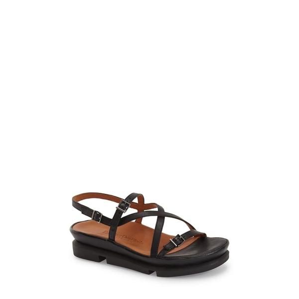 ラモールドピード レディース サンダル シューズ 'Verdun' Crisscross Sandal Black Leather