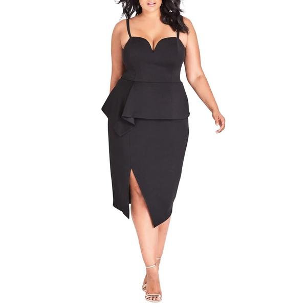 シティーシック レディース ワンピース トップス Screen Siren Dress Black