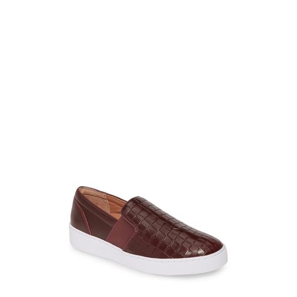 バイオニック レディース スニーカー シューズ Demetra Sneaker Wine Leather