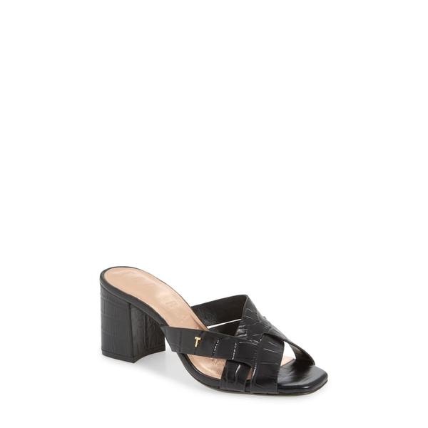 テッドベーカー レディース サンダル シューズ Tabeai Sandal Black Leather